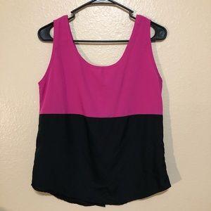 Pink and black sleeveless